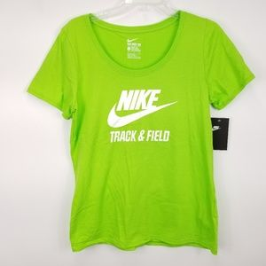 Nike Womens Track and Field T Shirt Sz Large L